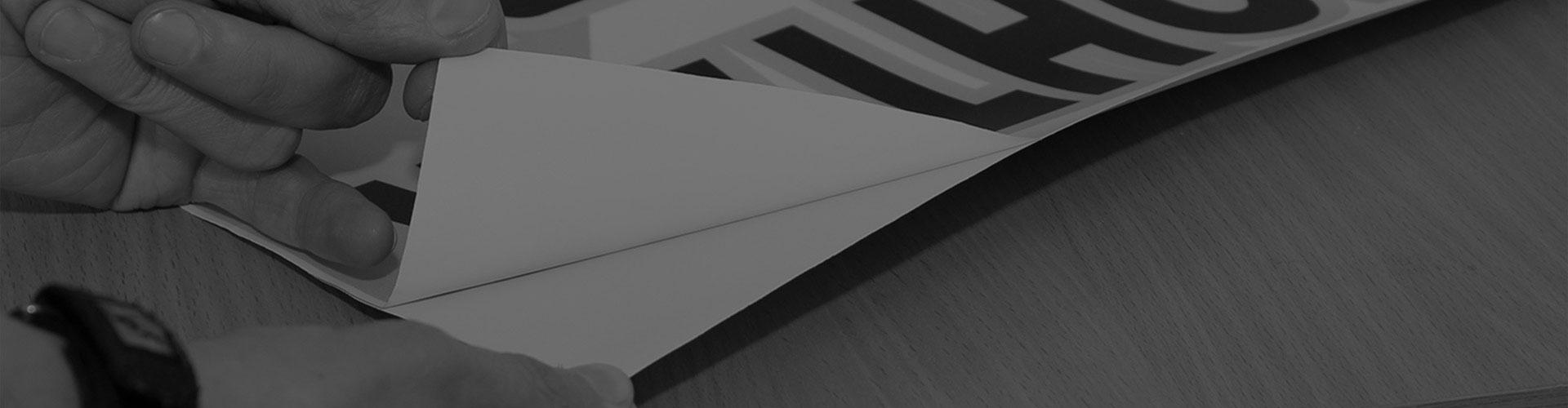 Широкоформатная печать на самоклеющейся пленке